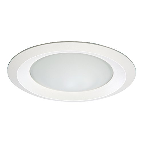 Halo RE-6150WH 6150WH E26 Series Recessed Shower Light with Frosted Glass Lens, 6