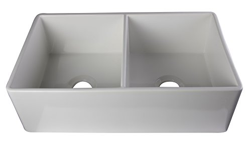 Fireclay Double Bowl Kitchen Sink - 8