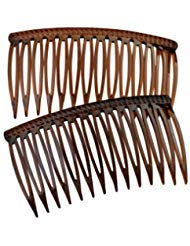 Good Hair Days The Original Grip-Tuth Hair Combs, Set of 2, 40417 Shell 3 1/4 Wide