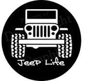 Chase Grace Studio Jeep Life Off Road 4 X 4 Wrangler Rubicon Vinyl Decal Sticker|White|Cars Trucks Suvs Laptops Tool Box Wall Art|5