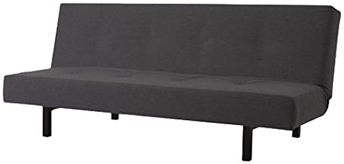 The Cotton Balkarp Cover Replacement, Size: 190cm Wide, Not 170cm, is Custom Made for Ikea Balkarp Sofa Bed, Or Futon Slipcover (Cotton Dark Gray)
