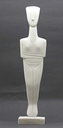 Cycladic Figurine Idol Greek Art Statue Sculpture Museum Copy Cast Marble -