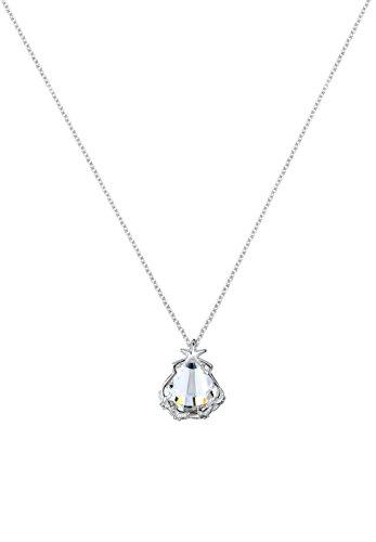 Elli pour femme avec pendentif en forme de coquillage &marin motif étoile de mer en argent 925 et cristal de verre blanc brillant 45 cm - 0109521914_45