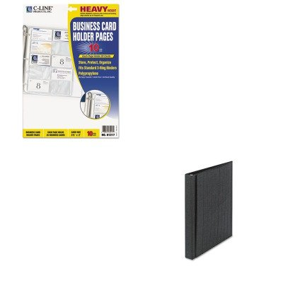 - Value Kit - Cardinal Easel Ring Binder (CRD09260) and C-line Business Card Binder Pages (CLI61217) (Easel Business Binder)