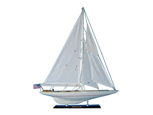 Hampton Nautical Wooden Intrepid Limited Model Sailboat Decoration, 27