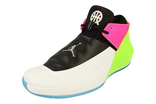 Nike Air Jordan Why Not Zero.1 Low Q54 Mens Hi Top Basketball Trainers AT9190 Sneakers Shoes (UK 11 US 12 EU 46, White Metallic Silver Black 100)