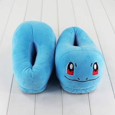 VIETCJ 14Style Eevee Bulbasaur Charmander Slippers Mew Winter Indoor Plush Slippers Unisex M Home Slippers Shoes -Multicolor Complete Series Merchandise
