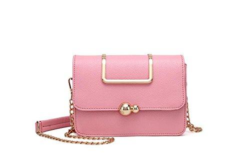 à chaîne sac version coréenne à unique dame petit LEODIKA Pink mode sac main blanche Sac bandoulière 57FqnHz