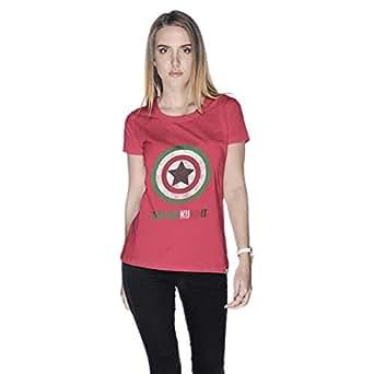 Creo Captain Kuwait T-Shirt For Women - Xl, Pink