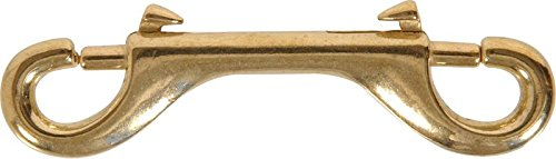 Hillman 4-1/2 in. Solid Brass Double Ended Bolt Snap (3-PACK)