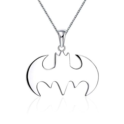 YuRocker Siperman Batman Pendant Necklace Stainless Steel Jewelry Gifts for Women Men Boy (Batman) ()