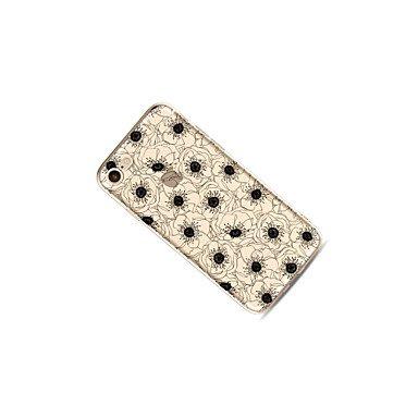 Fundas y estuches para teléfonos móviles, Caso para el iphone 7 más 7 cubra la caja transparente de la contraportada del patrón caso suave de la flor para el iphone 6s más 6 más 6s ( Modelos Compatibl IPhone SE/5s/5