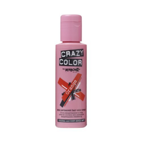 Crazy Color Semi Permanent Hair Color Cream Orange