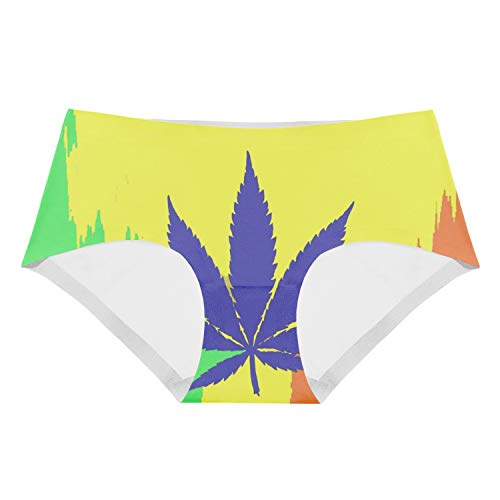 Maple Leaf Clipart Brief Panties Underwea Girl's Low-Waist Stretch