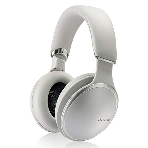 Panasonic Noise Cancelling Over The Ear Headphones with Wireless Bluetooth, Alexa Voice Control & Other Assistants - Silver (RP-HD805N-S)