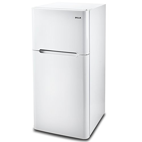Della 4.5 cu. ft. Mini Compact Refrigerator Freezer Home Shelf Cooler w/Drawer, White, 2 Door
