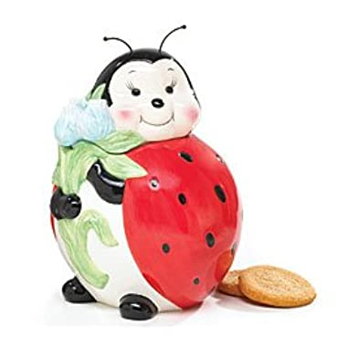 Adorable Ladybug Cookie Jar/Food Storage For Kitchen Decor And Collections