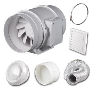 High power in line bathroom shower extractor fan kit 5 for 5 bathroom extractor fan
