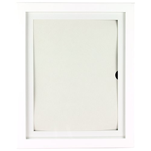Child Artwork Frame - Lil DaVinci Artwork Display Cabinet/Frame, 9 x12 - White Da Vinci Cabinet