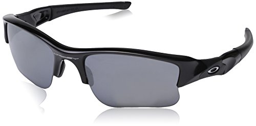 Oakley Flak Jacket XLJ Sunglasses Jet Black/Black Iridium, - Oakley Jacket Flak Xlj Black Polarized Iridium Lenses
