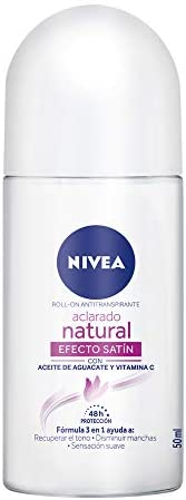 Nivea Desodorante Antitranspirante Aclarado Efecto Satín Roll On, 50ml