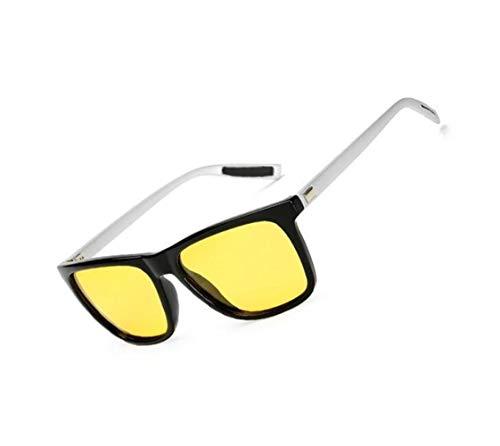 de lunettes protectrices Lunettes UV400 Cool de conduite polarisées de Lunettes Huyizhi soleil vision lunettes de Silver pêche soleil nocturne unisexes voyager 0qwAx6Z