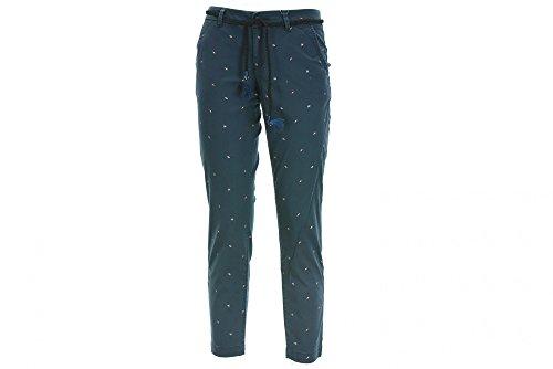 15133593 Onlu pantalone chino donna con micro fantasia blu mod. Evelin Tg 38