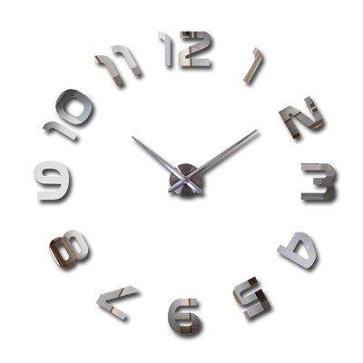 Super Sencillo reloj de bricolaje ver 3D Art Creative Salón pegatinas decorativas para paredes personalidad Mesa Reloj de pared Reloj digital de cuarzo ...