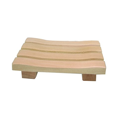 LATHER Natural Soap Dish - Natural Bamboo Wood soap holder helps to extend the life of soaps by allowing the soap to dry between uses