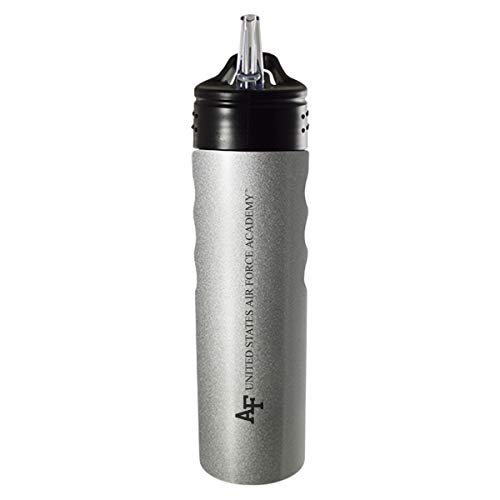 Force Academy United States Air - United States Air Force Academy-24oz. Stainless Steel Grip Water Bottle with Straw-Silver
