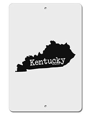 "TooLoud Kentucky - United States Shape Aluminum 8 x 12"" Sign"