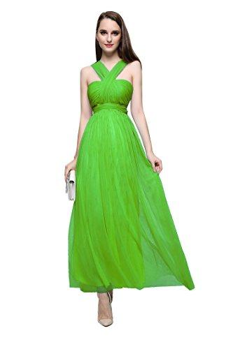 Emily Halfter Rückenfrei Beauty Ohne Linie A Arm Abendkleider Grün Plissees Uwng4
