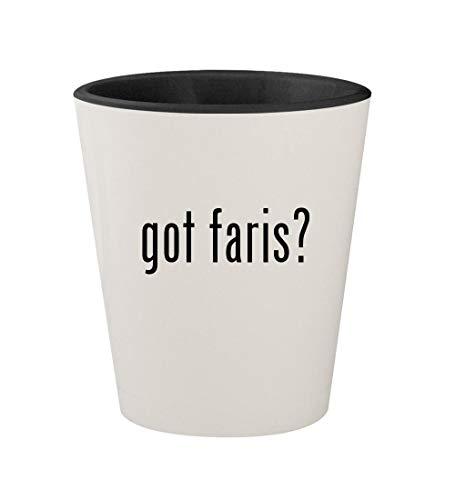 - got faris? - Ceramic White Outer & Black Inner 1.5oz Shot Glass