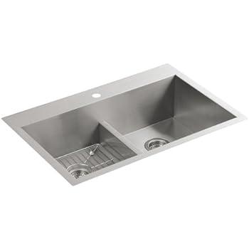 KOHLER K 3838 1 NA Vault Smart Divide Double Equal Sink