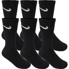 Nike Crew Cut Performance Cotton Socks 6 Pair | Arch Compression | Reinforced Heel & Toe | Moisture-Wicking Technology | Soft-Dry Material | Shock Absorption Design - (Medium, Black) by nike
