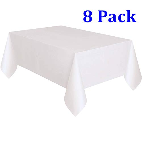 SuperNeo 8Pack Plastic Tablecloth, 54