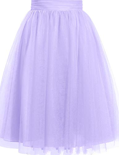 Cdress Women's Tulle Knee Length Short Tutu Skirt Middle A-Line for Prom Party XXXL