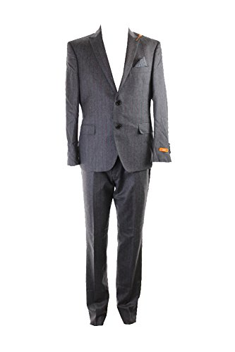 Tallia-Grey-Striped-Flannel-Pc-Suit-S-W