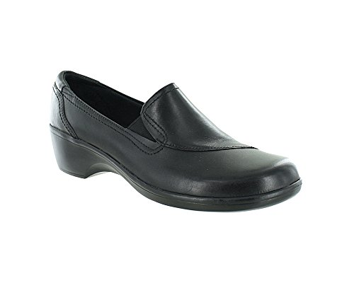 Clarks Women's May Poppy Loafer,Black Leather,5 M US