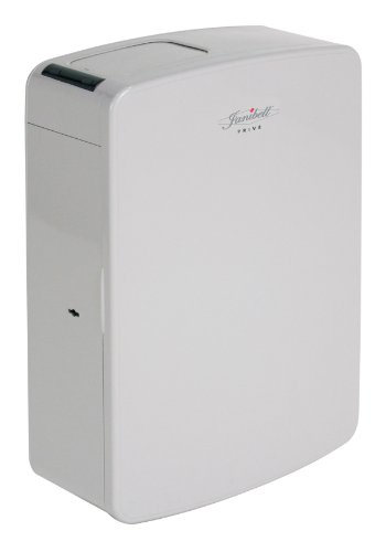 Janibell MPV10A ABS 2-Gallon Touchless and Hygienic Sanitary Napkin Disposal System, Rectangular, 5-1/2