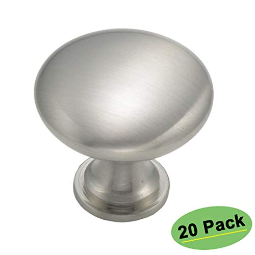 (homdiy Knobs for Kitchen Cabinets 20 Pack Satin Nickel Cabinet Knobs - HD6050SNB Metal Drawer Knobs Round Knobs for Bathroom Cabinets)