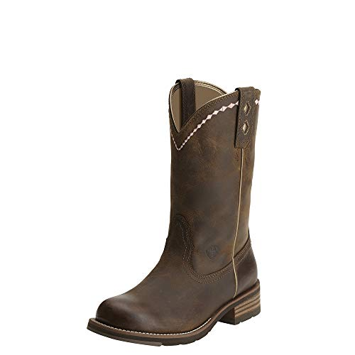 ARIAT Women's Unbridled Roper Western Boot Distressed Brown Size 6 W Us ()