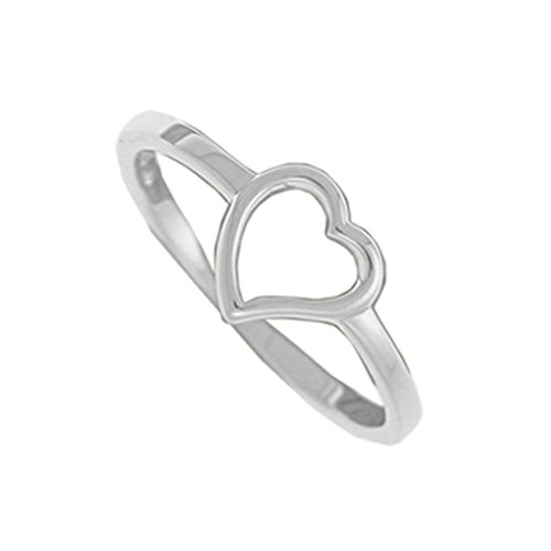 Boma Jewelry Sterling Silver Open Heart Ring, Size 8