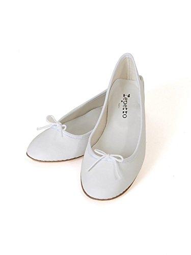 repetto Ballerina aus Leder in sommerlichem weiß