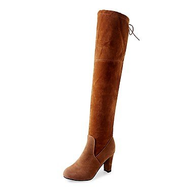Round CN36 Fashion Evening Boots EU36 Party Occasion Boots Leatherette Toe Shoes Women'S RTRY US6 amp;Amp;Special The Boots Out Winter Night UK4 Over For Red amp;Amp; Knee qwR40WWI