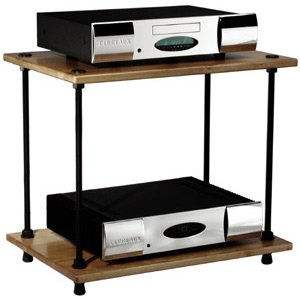 Salamander Audio Racks - Salamander - Archetype 2.0 Two-Shelf Audio Rack - Walnut