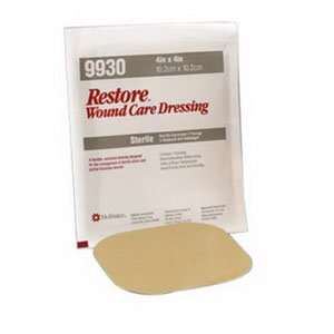 Hollister 519930 - Restore Hydrocolloid Dressing w/ Foam Backing, 4'' x 4'', 5/bx
