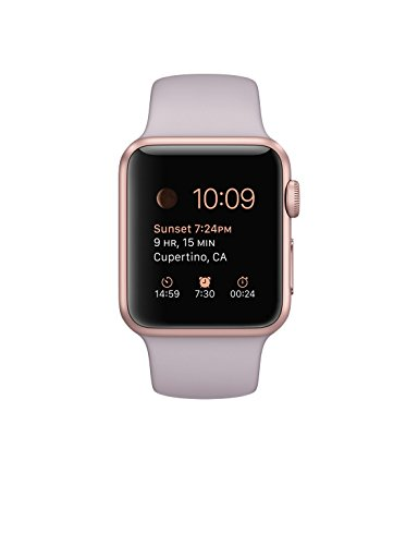 Apple Watch (38MM) Rose Gold Aluminum Case with Lavender Sport Band by Apple