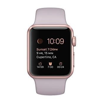 release date 5be33 1a7c0 Amazon.com: Apple 1.49-Inch Sport Smart Watch - Rose Gold Aluminum ...