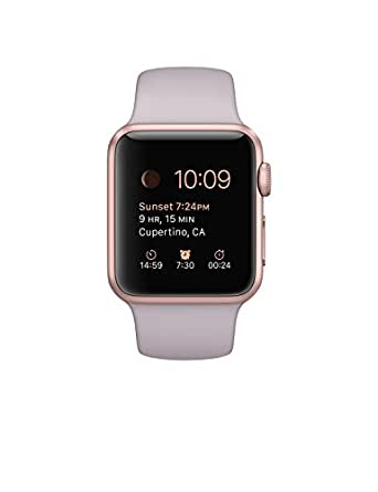 Apple 38mm Smart Watch - Rose Gold Aluminum Case with Lavender Band
